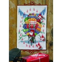 Permin,  Calendrier  de  l'Avent,  Père  Noël  à  bicyclette  34-4619