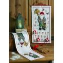 Permin,  Chemin  de  table  Père  Noel  et  Oiseaux  63-4618