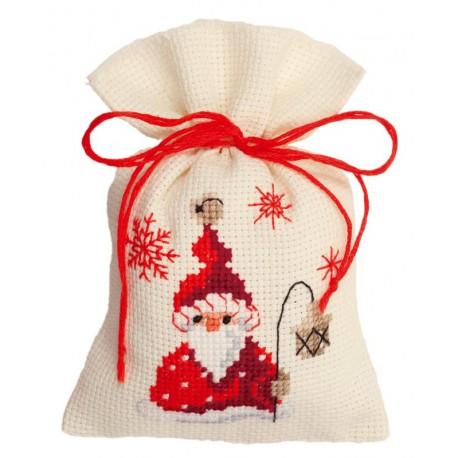 Vervaco,  Kit  Broderie  point  de  croix  Sachet  senteur  Santa  avec  Lanterne