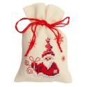 Vervaco,  Kit  Broderie  point  de  croix  Sachet  senteur  Santa  avec  cadeau