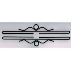 Permin,  Cintres  décoratifs  Supports  de  Broderie  métal  noir  35 cm