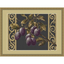 Luca-S  kit  broderie  point  de  croix  compté  Branche  d'Olives  B279