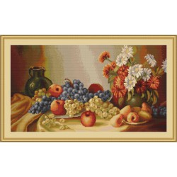 Luca-S  Nature  morte  B432  kit  broderie  point  de  croix  compté