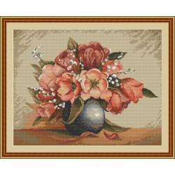 Luca-S  Vase  de  Fleurs  B 449  kit  broderie  point  de  croix  compté