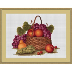 Luca-S  Nature  Morte  aux  Fruits  B 450  kit  broderie  point  de  croix  compté