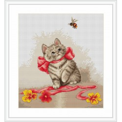 Luca-S  Chaton  B 2228  kit  broderie  point  de  croix  compté