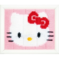 Vervaco  Hello  Kitty  0148232  Kit  broderie  au  point  lancé  sur  canevas  imprimé