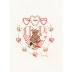 Vervaco  Popcorn  Heart  1695/VD07  Kit  broderie  au  point  de  croix  compté