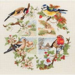 Anchor  Les  oiseaux  et  les  saisons  PCE880  kit  Broderie  point de croix  compté
