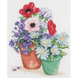 Anchor Les pots du jardin PCE0502 Kit Broderie au point de croix compté 7be3d66f738