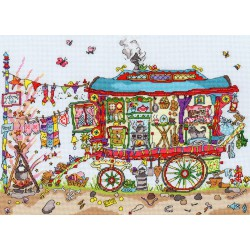 Bothy Threads  kit Cut Thru Gypsy Wagon | Bothy Threads  XCT13 | Broderie du monde