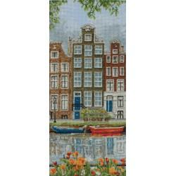 Anchor  Scène  de  rue  à  Amsterdam  PCE0814  Kit  Broderie  au  point de croix  compté