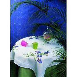 Royal Paris  kit  Nappe  Les  Iris  9886301-01748  à  broder  en  points  variés
