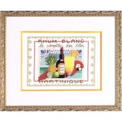 Royal Paris  Rhum  Blanc  9880.6415.0006  kit  broderie  au  point de croix  compté