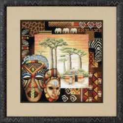 Royal Paris  Ambiance  Africaine  9880.6416.0003  kit  broderie  au  point de croix  compté