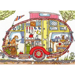 Bothy Threads  kit Cut Thru Vintage Caravan | Bothy Threads  XCT21 | Broderie du monde