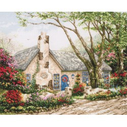 Maia  Morning  Glory  Cottage  5678000-01080  Kit  broderie  point de croix  compté