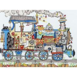 Cut Thru  Steam  Train  XCT24  Bothy Threads