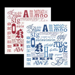 Thea Gouverneur  Sampler  ABC  3045  Lin