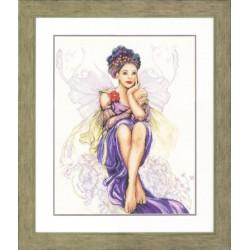 Lanarte  Femme  Papillon  Violet  0150005  Lin  Boderie  Point de croix compté
