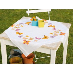Vervaco  Nappe  de  table  Papillons  colorés  0146525