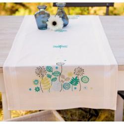 Vervaco  Chemin  de  table  Herbes  et  Libellules  0147122