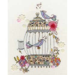 Bothy Threads  kit Love Bird | Bothy Threads  XKA3 | Broderie du monde