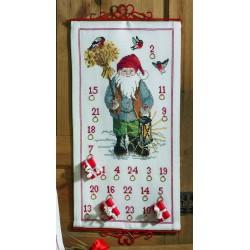 Permin  Kit  Calendrier  de  l'Avent  Santa  Claus  34-4618