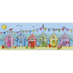 Bothy Threads  kit Beach Hut Fun | Bothy Threads  XJR19 | Broderie du monde