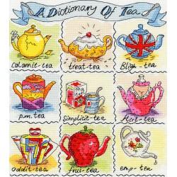 Bothy Threads  kit Dictionary of Tea | Bothy Threads  XDO1 | Broderie du monde