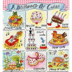 Bothy Threads  kit Dictionary of Cakes | Bothy Threads  XDO3 | Broderie du monde