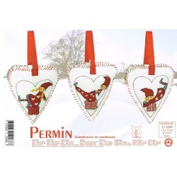 Permin  Cœurs  de  Noël  Elfes  21-2266