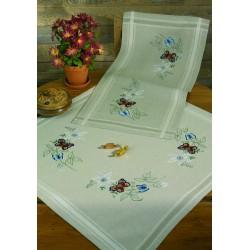 Permin  Chemin  de  table  Fleurs  et  Papillons  63-1863