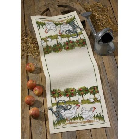 Permin  Chemin  de  table  Poules  68-1595