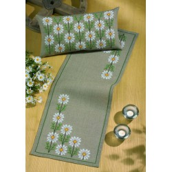 Permin  Chemin  de  table  Marguerites  68-2132