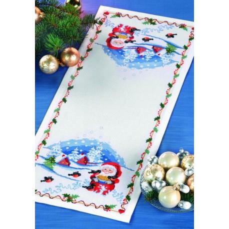 Permin  Napperon  long  Père Noël  68-8208