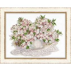Riolis  kit Cherry blossom  Collection Premium  Riolis  100/034 | Broderie du monde