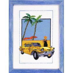 Permin  Cuba  car  jaune  92-8125