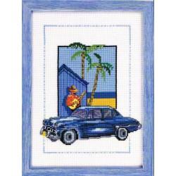 Permin  Cuba  car  bleu  92-8128