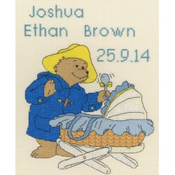 Bothy Threads  Paddington  Bear  New  Baby  Sampler  XPB1