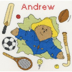 Bothy Threads  Paddington  Bear  Sports  Sampler  XPB3