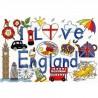 Bothy Threads  I  Love  England  XL1