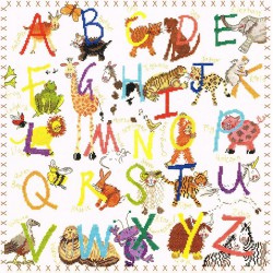 Bothy Threads  Animal  Alphabet  XAA1