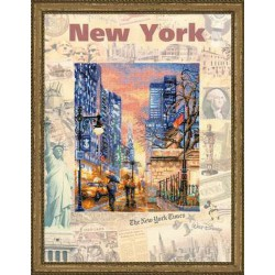 Riolis  kit Cities of the World, New York | Riolis  PT0025 | Broderie du monde
