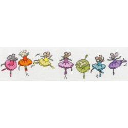 Bothy Threads  Row  of  Sugar  Plum  Mice  XRO6
