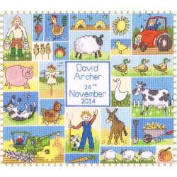 Bothy Threads  Patchwork  Farm  XJR20