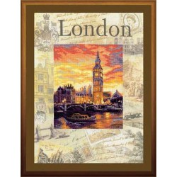 Riolis  kit Cities of the World, London | Riolis  PT0019 | Broderie du monde
