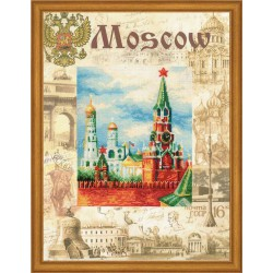 Riolis  kit Cities of the World, Moscow | Riolis  PT0021 | Broderie du monde