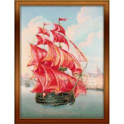 Riolis  kit Red Sails | Riolis  PT0017 | Broderie du monde