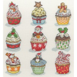 Christmas  Cup  Cakes  XH6  Bothy Threads